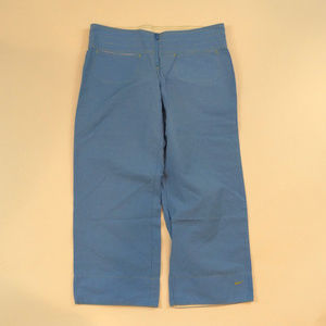 Nike Cropped Capri Size Small 4-6 Blue Pants